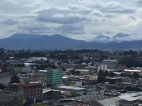 Guate City with volcanos